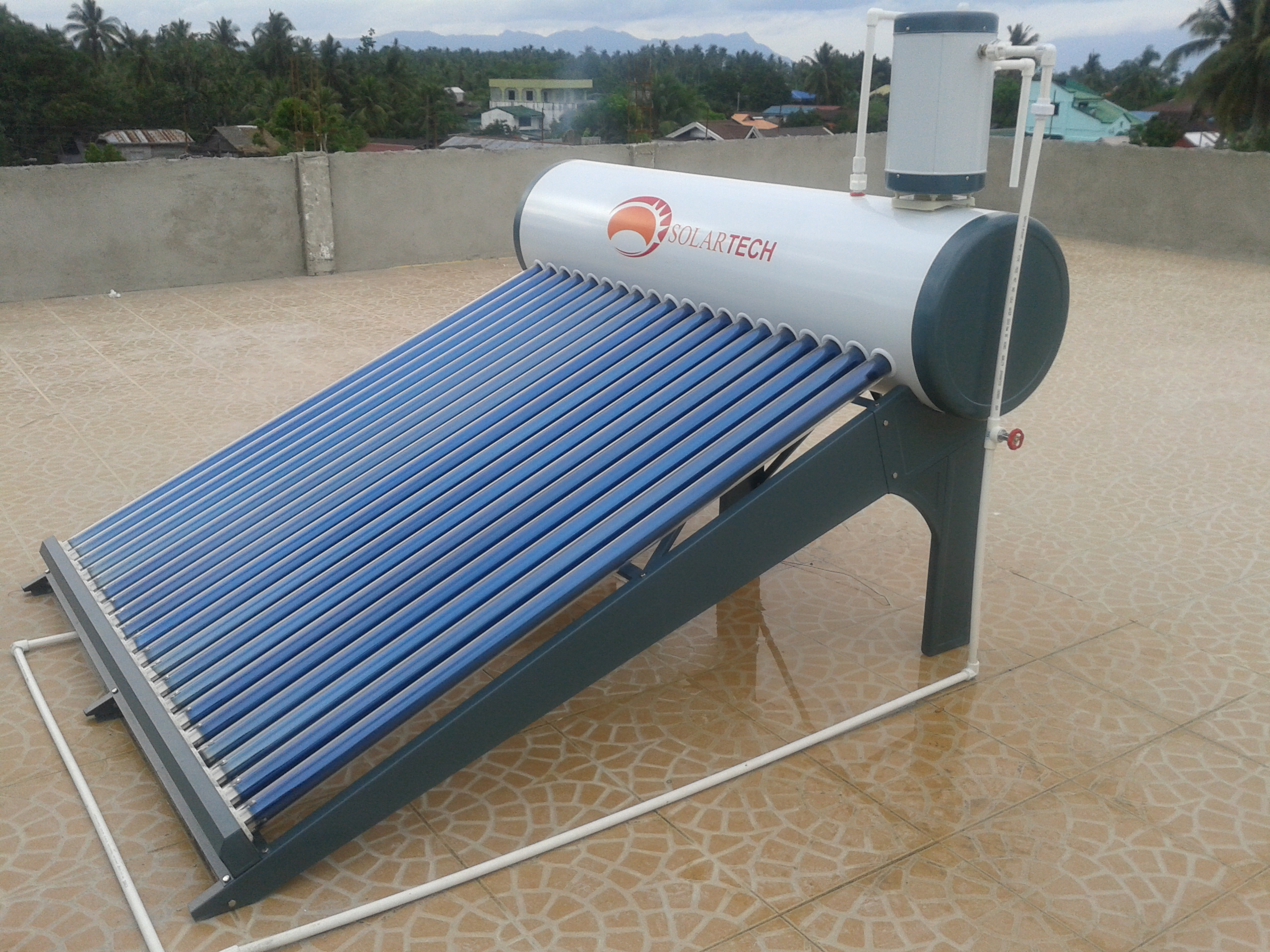 First solar heater in Leyte
