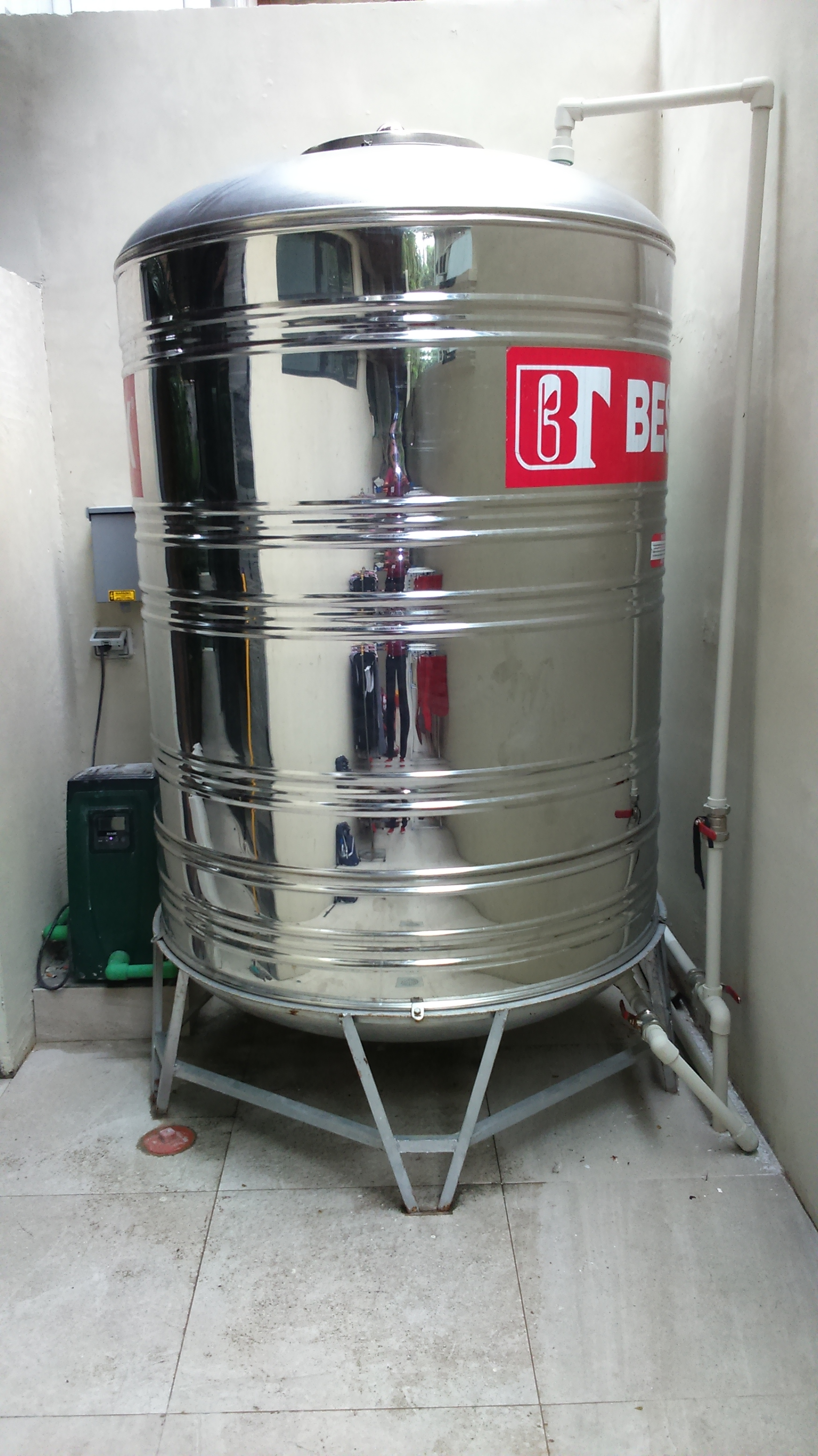 Esybox + Stainless Steel Storage Tank Residential Installation, Magallanes Village, Makati City