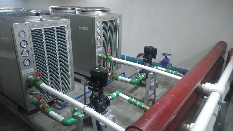 Installations of Grundfos CR Pump, Thermatrac TRT 40 Heat Pump, Integrated Duplex Type Control Panel and Set Up Transfomer – Red Planet Hotel, Quezon City